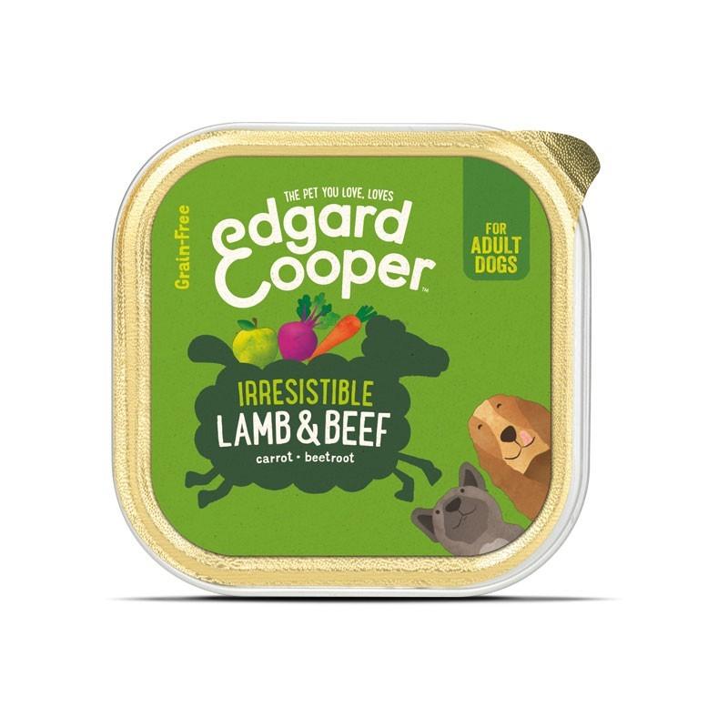 Edgard & Cooper Agnello e Manzo con Carota e Barbabietola per Cani 150 g