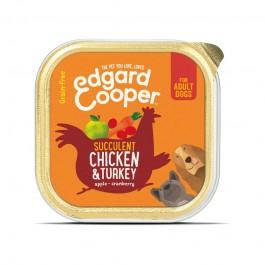 Edgard & Cooper Pollo e Tacchino con Mela, Mirtillo Rosso e Carota 150g