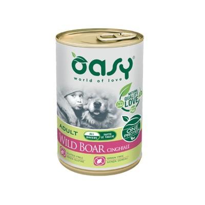 Oasy One Protein al Cinghiale Umido per Cani 400g