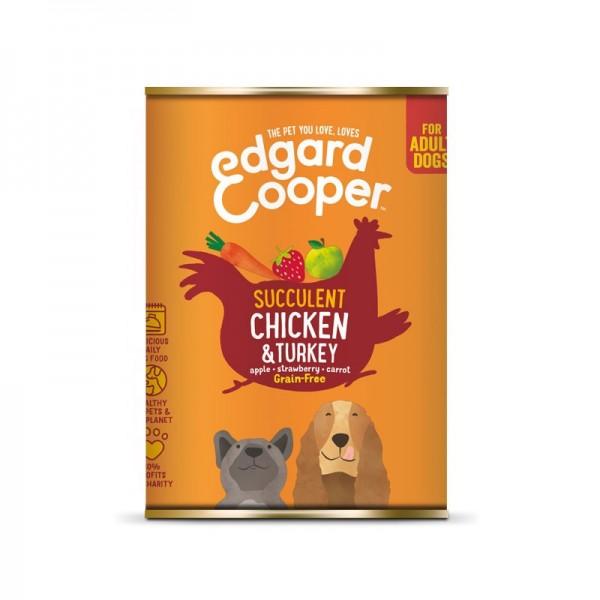 Edgard & Cooper Adult Pollo e Tacchino con Pomodori e Mirtilli