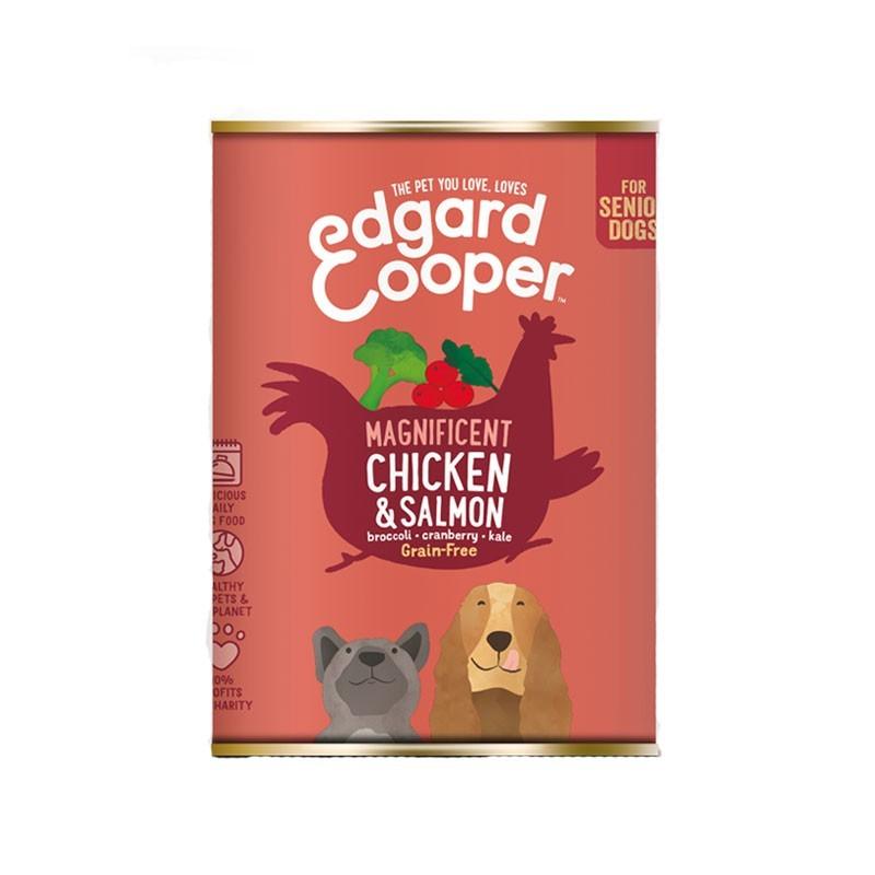 Edgard & Cooper Senior Pollo e Salmone con Broccoli per Cani 400gr