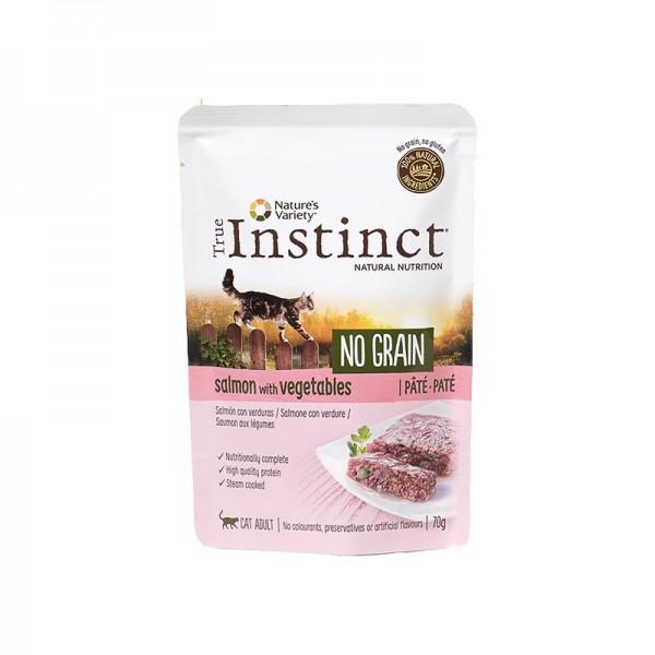 True Instinct Adult No Grain Paté al Salmone per Gatti 70g