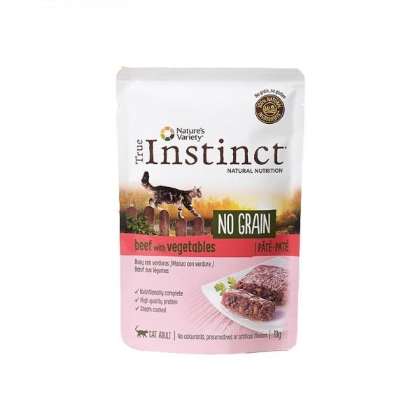 True Instinct Adult No Grain Paté al Manzo per Gatti 70g