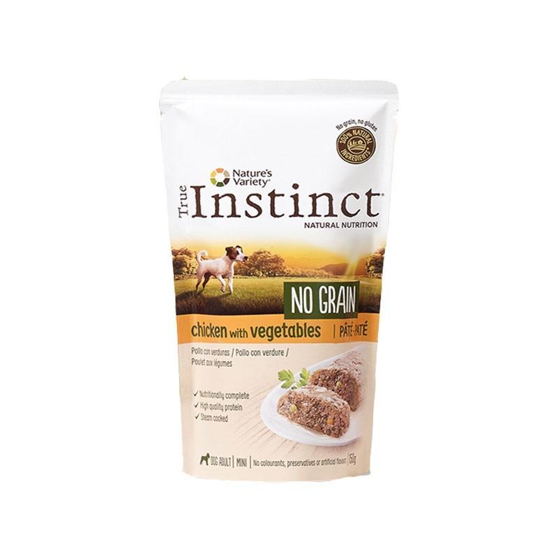 True Instinct  Adult Mini No Grain Paté al Pollo per Cani 150g
