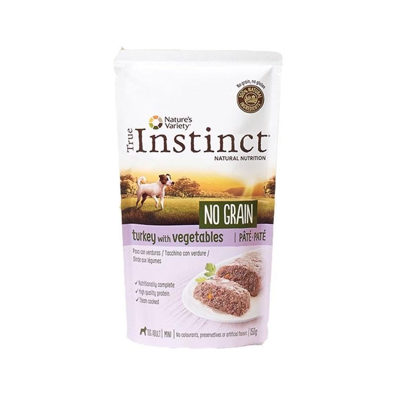 True Instinct  Adult Mini No Grain Paté al Tacchino per Cani 150g