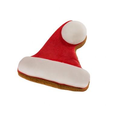 Dolcimpronte Biscotto Cappello di Natale con Glassa