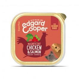 Edgard & Cooper Senior Pollo e Salmone con Broccoli per Cani 150gr