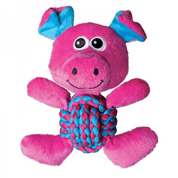 KONG Peluche con Corda Annodata Weave Knots Pig