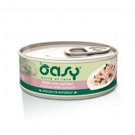 Oasy Natural Adult Pollo con Spinaci Umido per Gatti