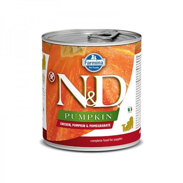 Farmina N&D Pumpkin Puppy Pollo e Melograno Umido per Cuccioli 285g