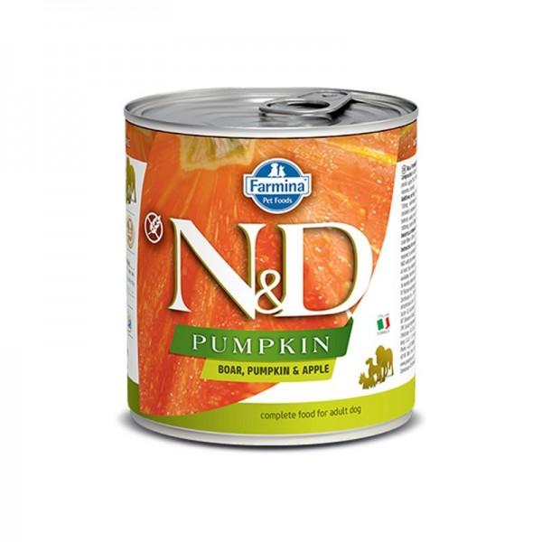 Farmina N&D Pumpkin Adult Cinghiale e Mela Umido per Cani 285g
