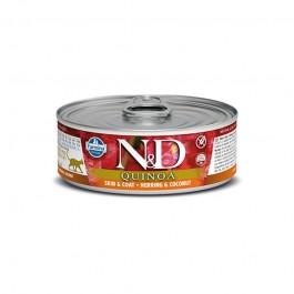 Farmina N&D Quinoa Aringa e Cocco Umido per Gatti 80g