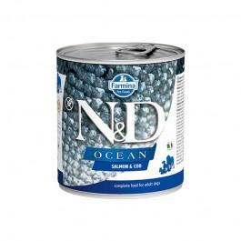 Farmina N&D Ocean Adult Salmone e Merluzzo Umido per Cani 285g