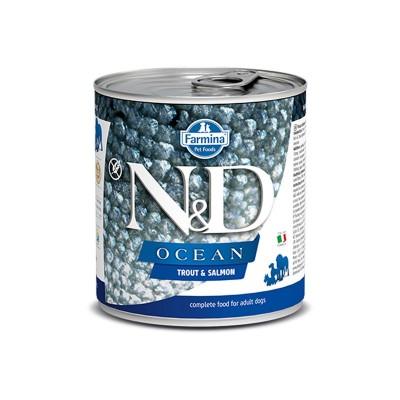 Farmina N&D Ocean Adult Trota e Salmone Umido per Cani 285g