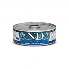 Farmina N&D Ocean Spigola e Sardine Umido per Gatti 80g