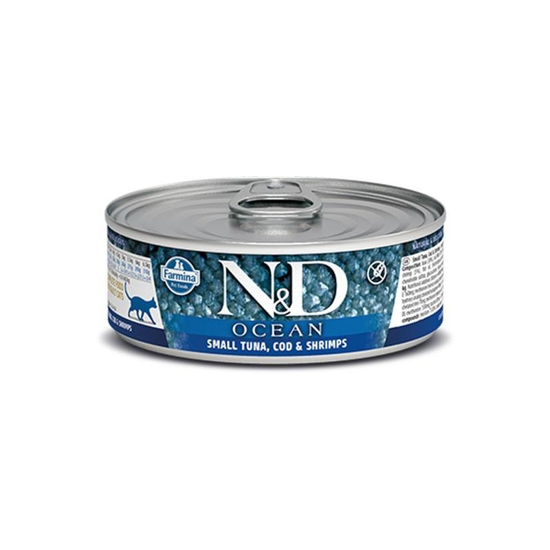 Farmina N&D Ocean Tonno e Gamberetti Umido per Gatti 80g