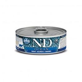 Farmina N&D Ocean Trota e Salmone Umido per Gatti 80g