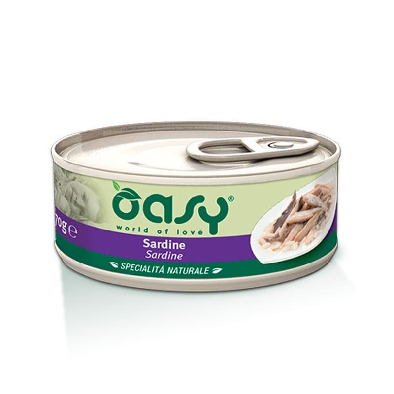 Oasy Natural Adult Sardine Umido per Gatti