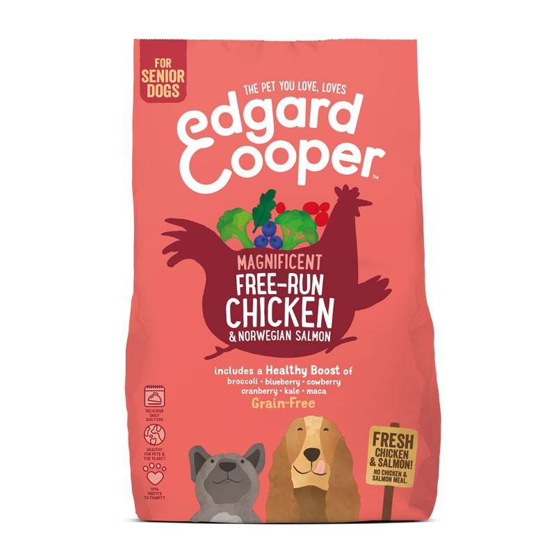 Edgard & Cooper Senior Grain Free Pollo e Salmone con Broccoli