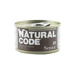 Natural Code Senior Fiocchi di Pollo e Riso per Gatti 85gr