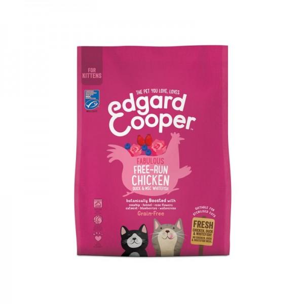 Edgard & Cooper Kitten Pollo e Anatra con Cinorroidi e Fiori di Rosa