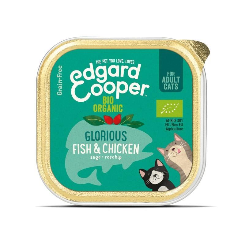 Edgard & Cooper Pesce e Pollo Biologici per Gatti 85gr