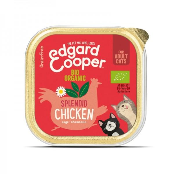 Edgard & Cooper Pollo Biologico con Salvia e Camomilla per Gatti 85gr