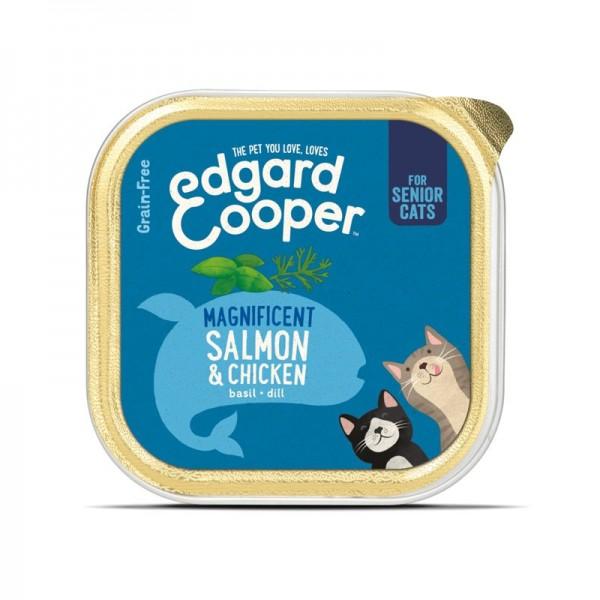 Edgard & Cooper Senior Salmone e Pollo con Basilico e Aneto per Gatti 85gr