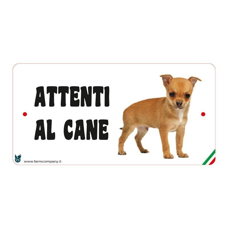 Farm Company Targa Attenti al Cane con Chihuahua
