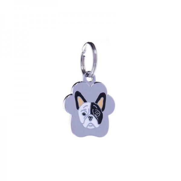Petitamis Medaglietta Rainbow Bulldog Francese Bianco e Nero