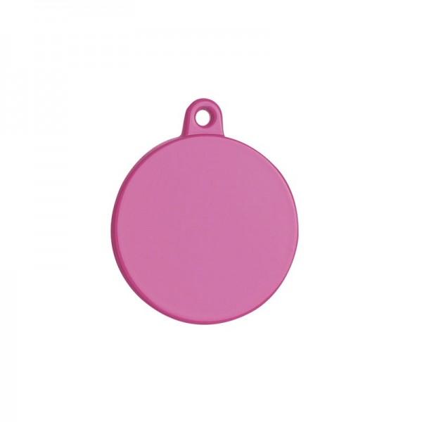 Petitamis Medaglietta Laser Tonda Grande Rosa
