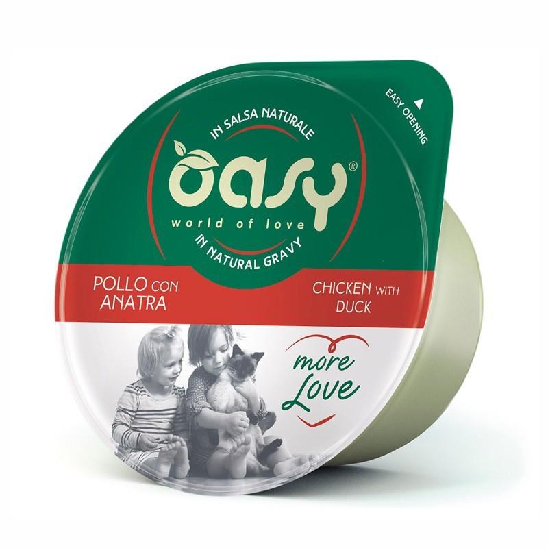 Oasy More Love Pollo e Anatra per Gatti Cup 70gr