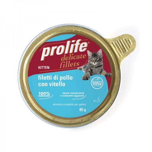 Prolife Kitten Pollo e Vitello Umido Per Gatti