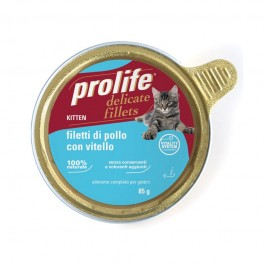 Prolife Kitten Pollo e Vitello Umido Per Gatti