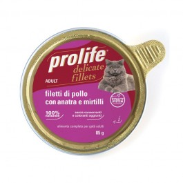 Prolife Adult Filetti di Pollo con Anatra e Mirtilli