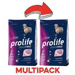 Grain Free Adult Sensitive Medium//Large al Maiale e Patate da 10 kg prolife