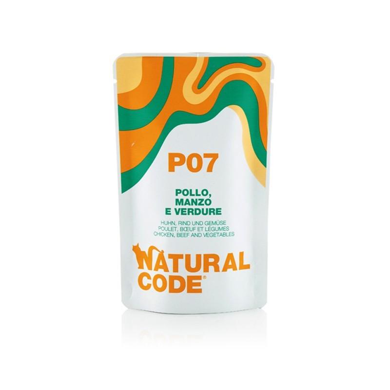 Natural Code Pollo, Manzo e Verdure per Gatti