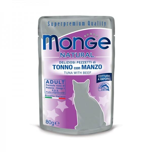 Monge Adult Tonno e Manzo per Gatti 80gr