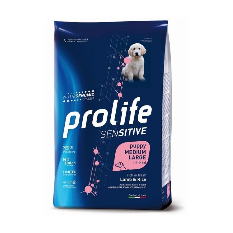 Prolife Sensitive Puppy Medium/Large Agnello e Riso