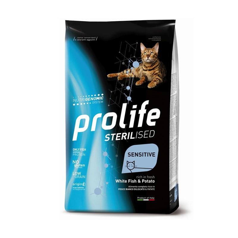 Prolife Cat Sterilized Sensitive Adult Pesce Bianco e Patate