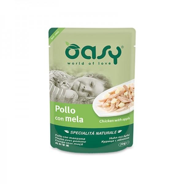 Oasy Cat Natural Adult Pollo e Mela