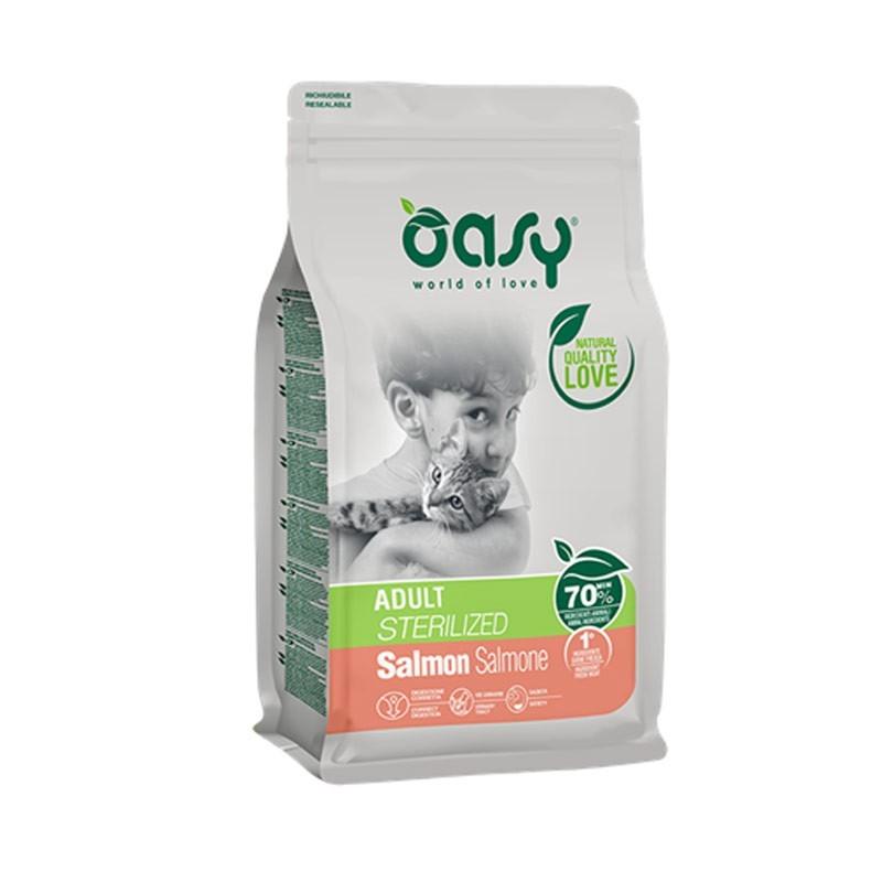Oasy Adult Sterilized al Salmone per Gatto