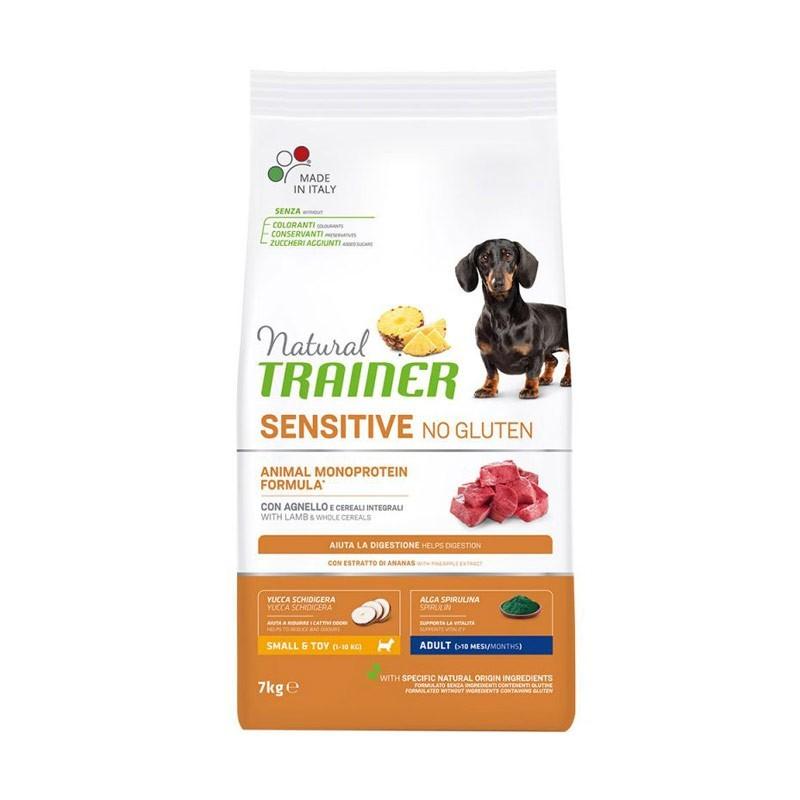 Trainer Natural Sensitive No Gluten Adult Mini con Agnello