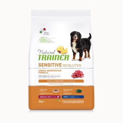 Trainer Natural Sensitive No Gluten Adult Medium/Large con Agnello