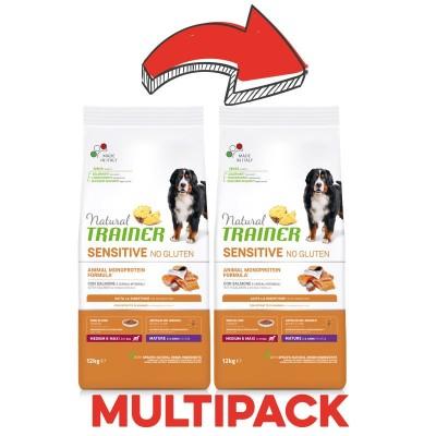 Trainer Natural Sensitive No Gluten Mature Medium - Maxi con Salmone