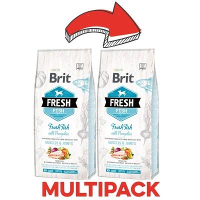 Brit Fresh Adult Large Breed Pesce e Zucca