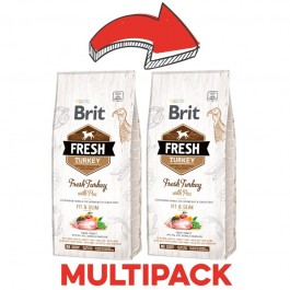 Brit Fresh Dog Adult Fit & Slim Tacchino e Piselli