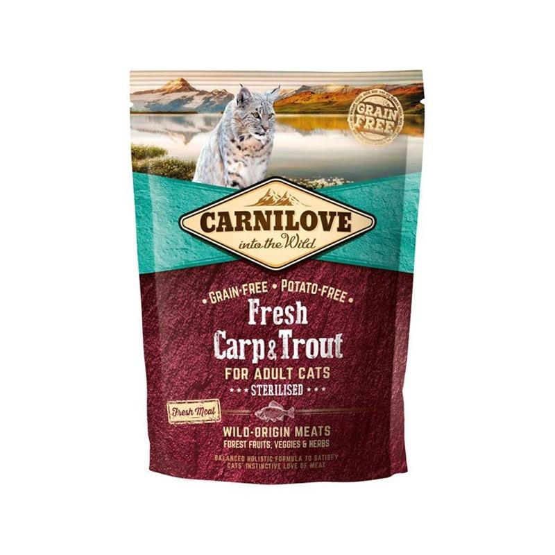 Carnilove Fresh Adult Sterilised Carpa e Trota per Gatti