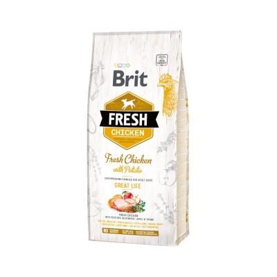 Brit Fresh Adult All Breeds Pesce e Zucca
