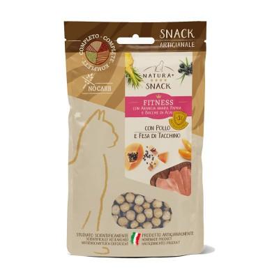 Natura+ Snack Fitness Pollo e Fesa di Tacchino per Gatti